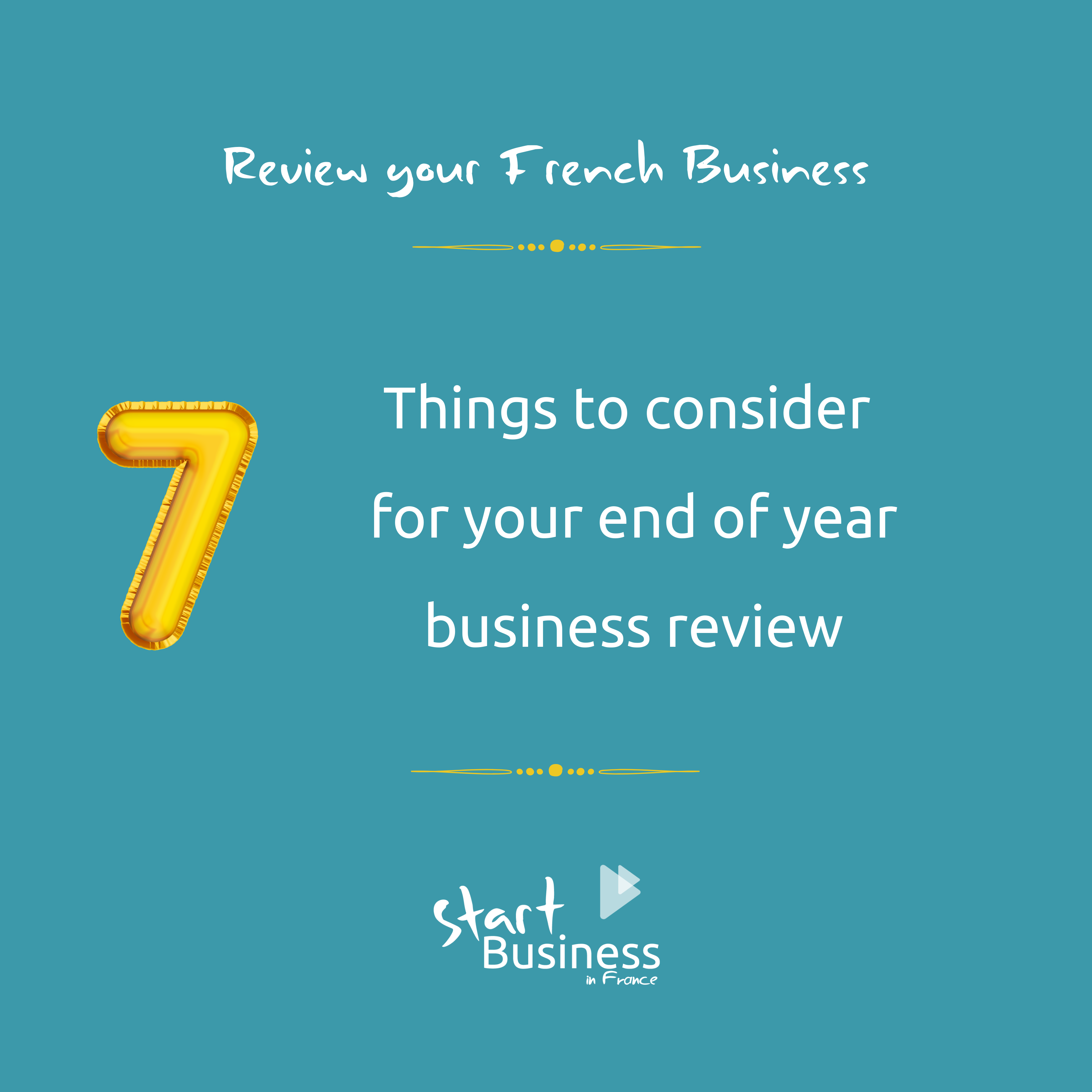 End of year business review for your French business