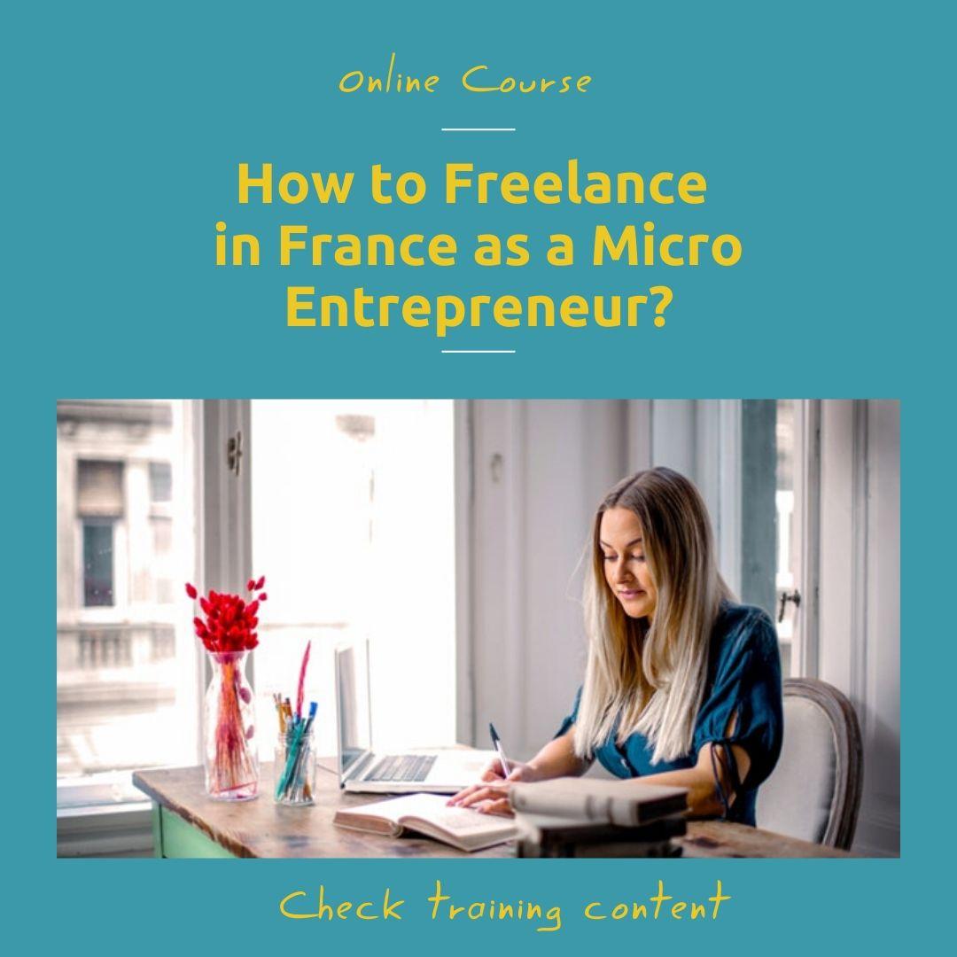 Auto Entrepreneur online course : Manage your set up paperwork