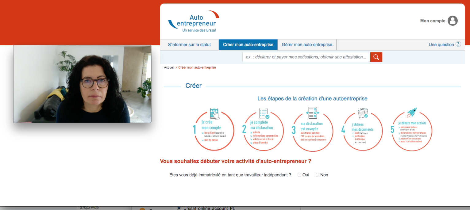 Urssaf's micro entrepreneur registration site improved